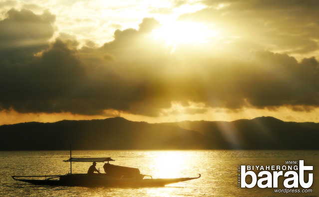 Cagbalete Island Quezon province boat sunset