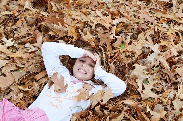 avery in leaves