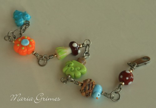 A Walk on the Whimsy Side- Lampwork Bracelet