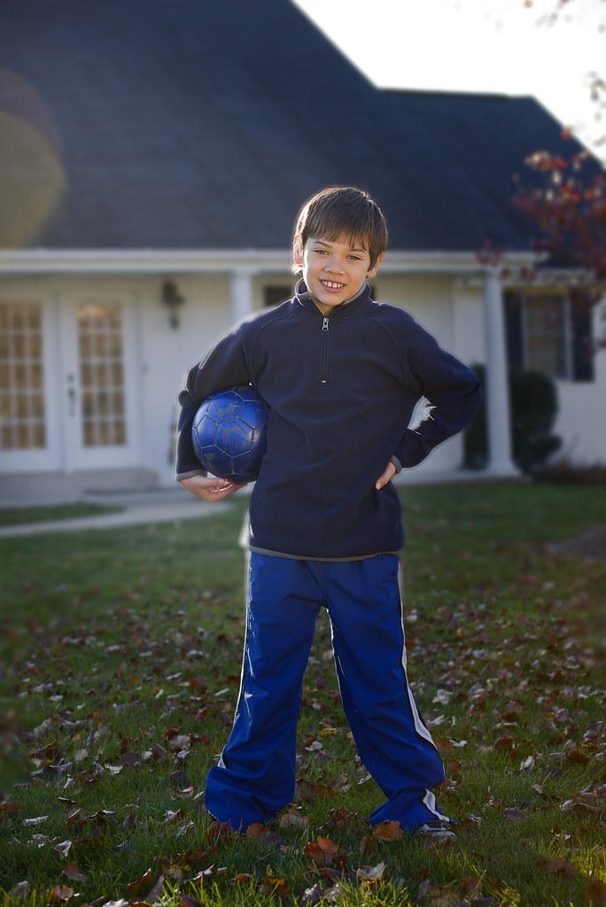 Personality Soccer ball pose