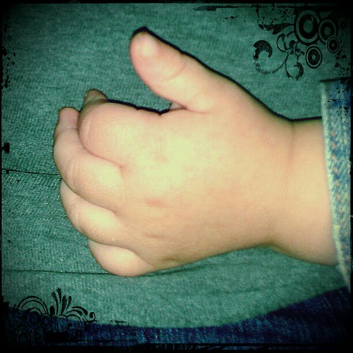 Cute baby hand