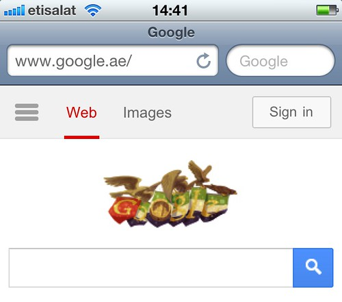 Google's tribute to UAE's 41st National Day