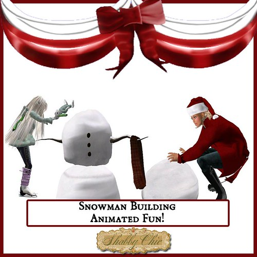 Shabby Chic Snowman Building Activity for Two by Shabby Chics