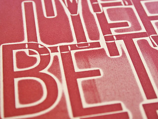 My Life Between letterpress poster prints