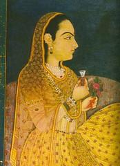 art, yellow, painting, sari, portrait,