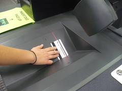 Make sure your i-Card is pressed flat against the scanner bed.