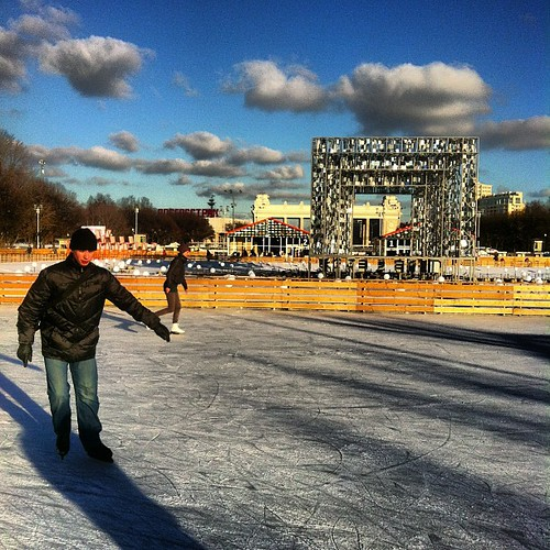 Catching my first ice of the season at Gorki Park