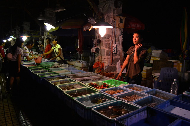 Night seafood market