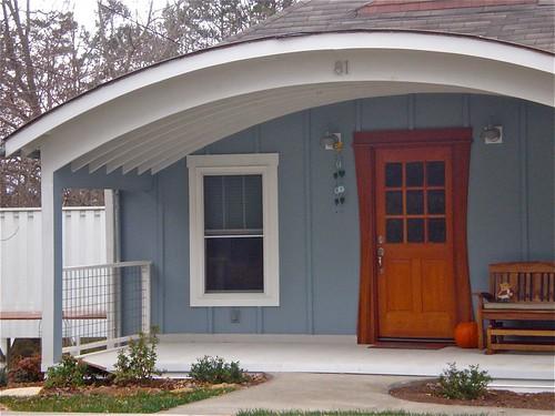 door new house building architecture bench design nc asheville porch craftsman storybook hobbit frontdoor clever 2012 buncombecounty boardandbatten mystuart ncpedia