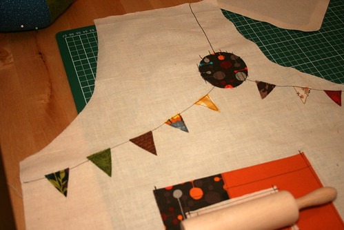 Peanut school apron in progress