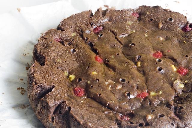 Brownie con frutos rojos de Jamie Oliver