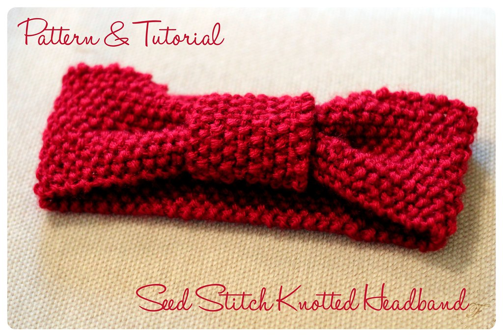 Seed Stitch Knotted Headband: Pattern & Tutorial