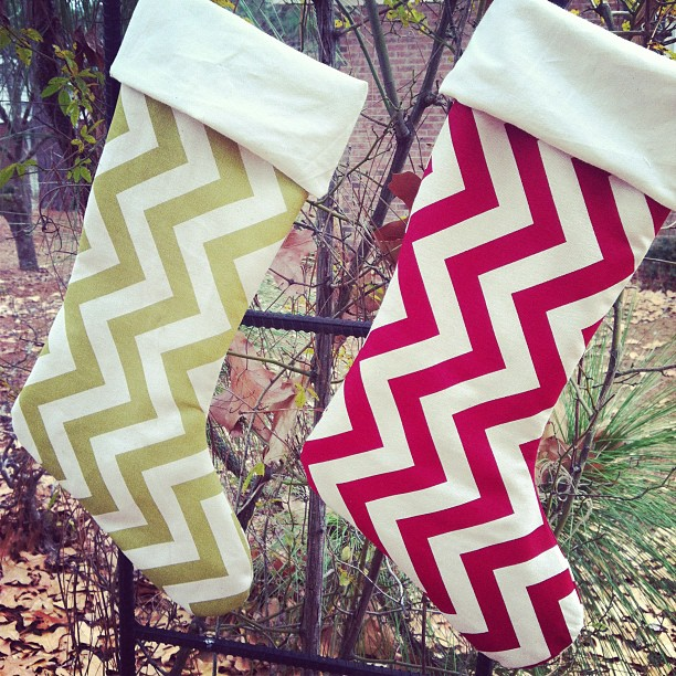 It's beginning to look a lot like Christmas! #christmas #stockings #handmade #bluprinttextiles #chevrons