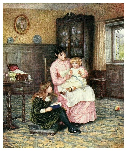 018- Dando palmadas-Happy England as painted by Helen Allingham-1903