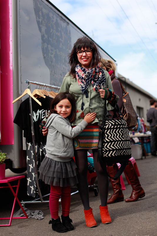 indiemart_momdaughter street style, street fashion, women, children, San Francisco, indie mart, Wisconsin Street