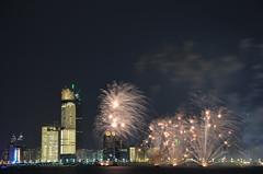 Fireworks over Corniche, Abu Dhabi