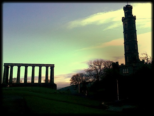 Nelson Monument & National Monument on Calton Hill Edinburgh