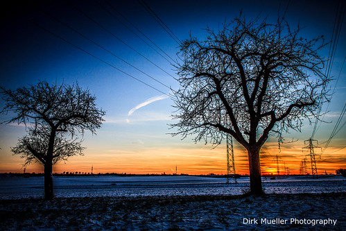 Cold Winter Sunset by Dirk Mueller Photography