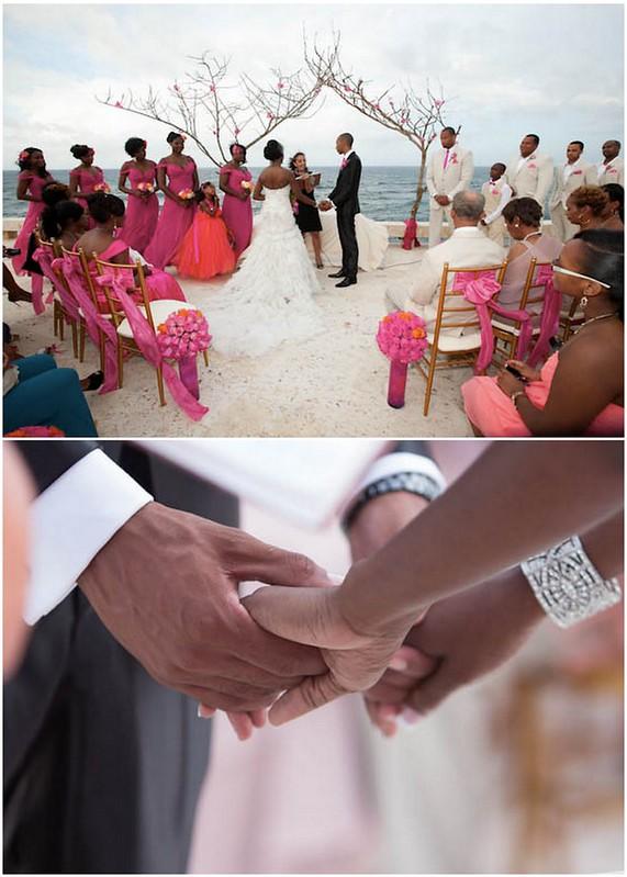 Bridal Styles bride Yanique and Samuel, photo - Gina Esposito via Essence Magazine