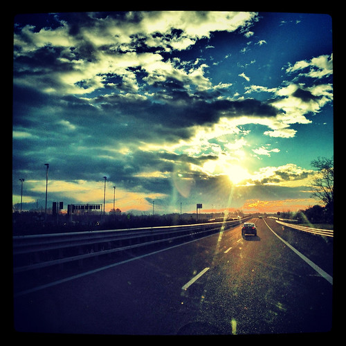 light sunrise highway driving scenic squareformat emotions ontheroad iphone vittorioveneto iphone5 iphoneography