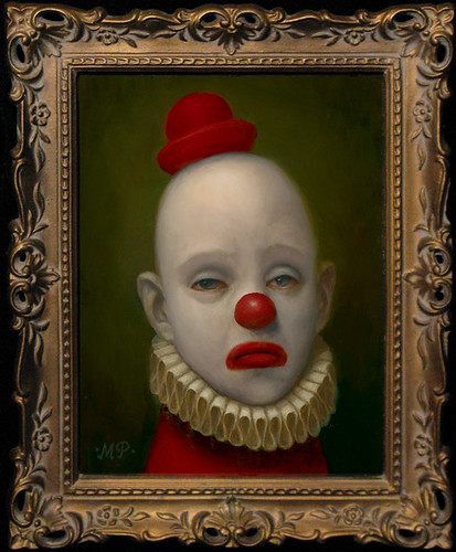 Marion Peck, Red Clown, Oil on canbas, 2009