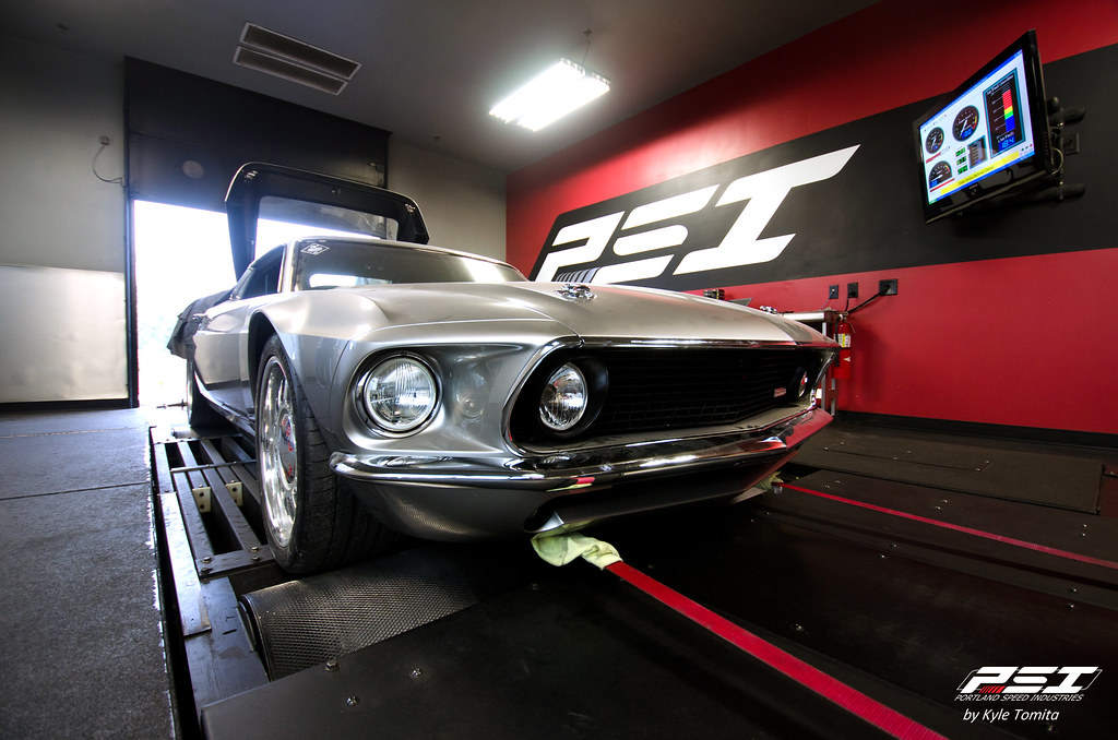 Ford Mustang Mach Forty on the dyno at PSI