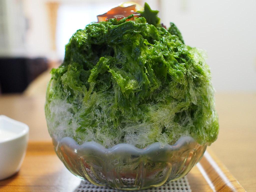 Japanese Shaved Ice Dessert - Maccha Kintoki