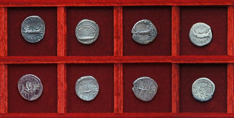 RRC 544-09,10,11 LEG XII ANTIQVAE, LEG XVII CLASSICAE, LEG XVIII LYBICAE Antony legions, Ahala collection Roman Republic