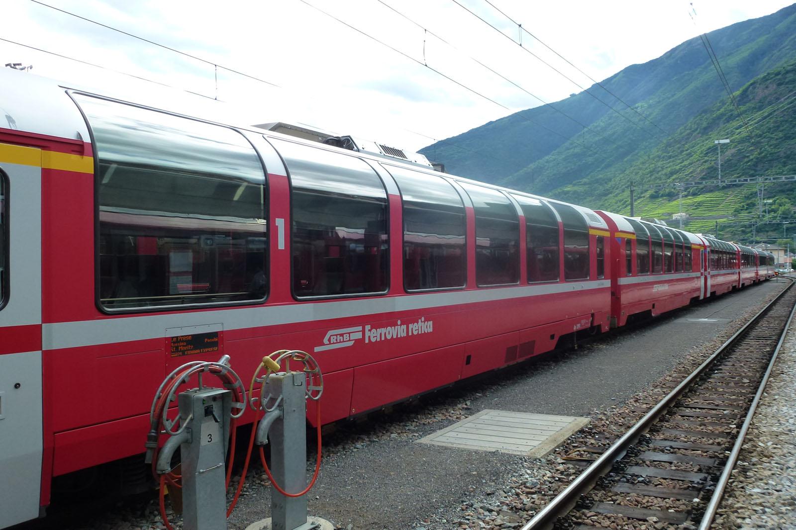 Este es el tren panorámico que hace el recorrido