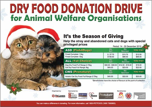 Pet Lover's Foundation Dry Food Donation Drive in aid of ...