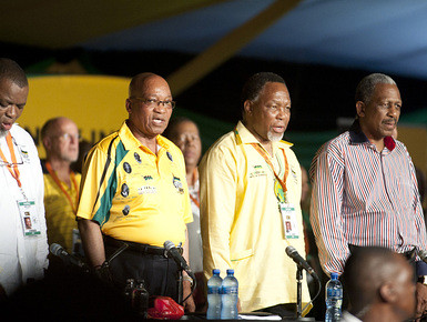 African National Congress elective conference at Manguang with Jacob Zuma, Kgalema Motlanthe and Mathew Phosa. The party is celebrating its centenary. by Pan-African News Wire File Photos