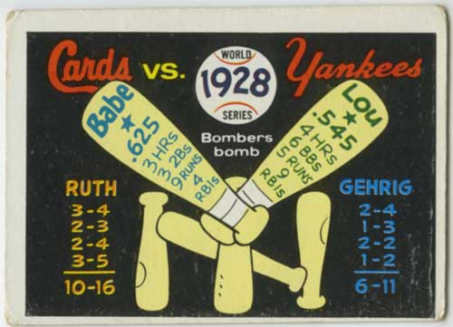 1970 Fleer World Series 1928