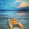 #sunrise and #thunderstorm on the #adria #adriatic #beach #beaches #sea #sail #sailing #riccione  #like #follow #cute #Photooftheday #followme #Beautiful #Happy #Fun #smile www.hotelbadenbaden.it @hotelbadenbaden