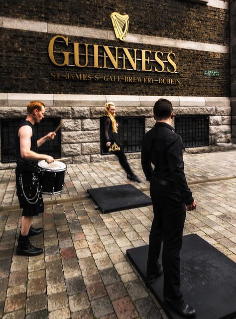 Dancing at Guinness
