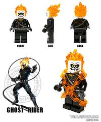 LEGO Ghost Rider Minifigure