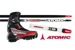 Nové lyže a boty Atomic na bruslení