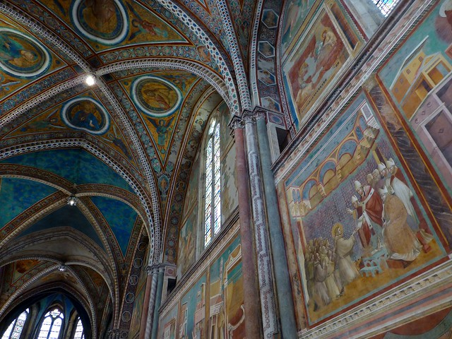 Frescoes by Giotto in the Basilica of San Francesco d'Assisi,  Assisi, Italy