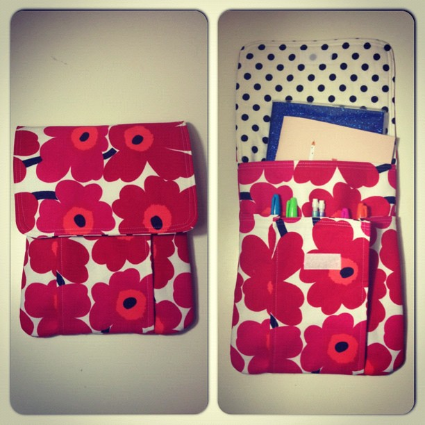 Marimekko idea pouch done!