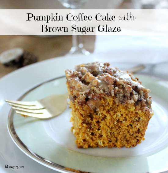 Hi sugarplum pumpkin coffee cake with brown sugar glaze Hi sugarplum