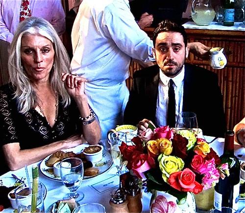 Director J.A. Bayona (right) with Shera Falk