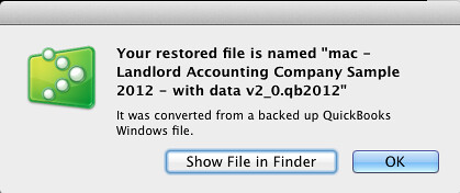 mac step 4 - restore quickbooks file for landlords