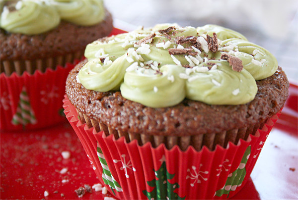 Luscious, Taza Chocolate Cupcakes with Avocado Frosting