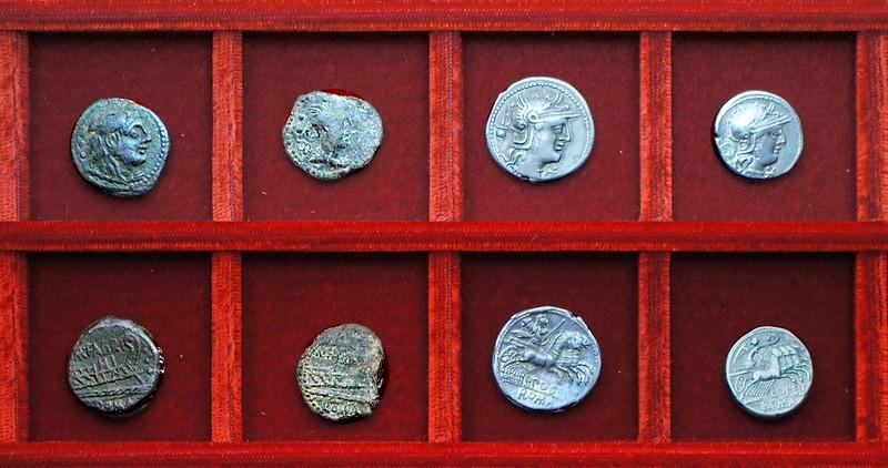 RRC 251 M.FABRINI Fabrinia bronzes, RRC 252 L.POST ALB Postumia, RRC 253 L.OPEIMI Opeimia, Ahala collection, coins of the Roman Republic
