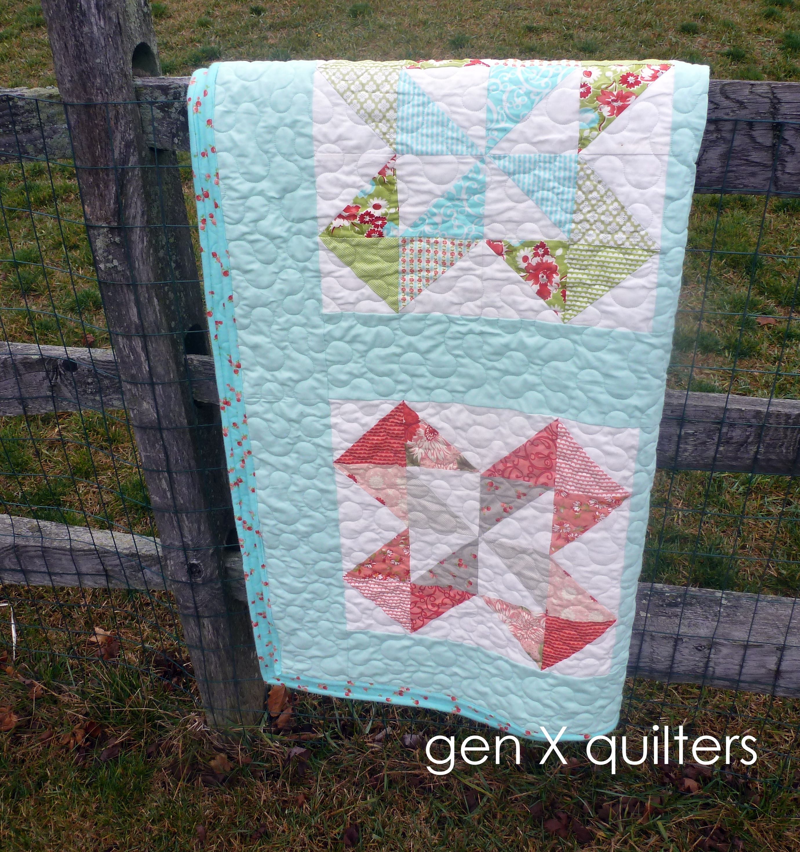 Ruby quilt fence