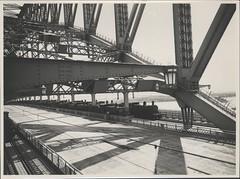 Steam trains on Harbour Bridge, 1932
