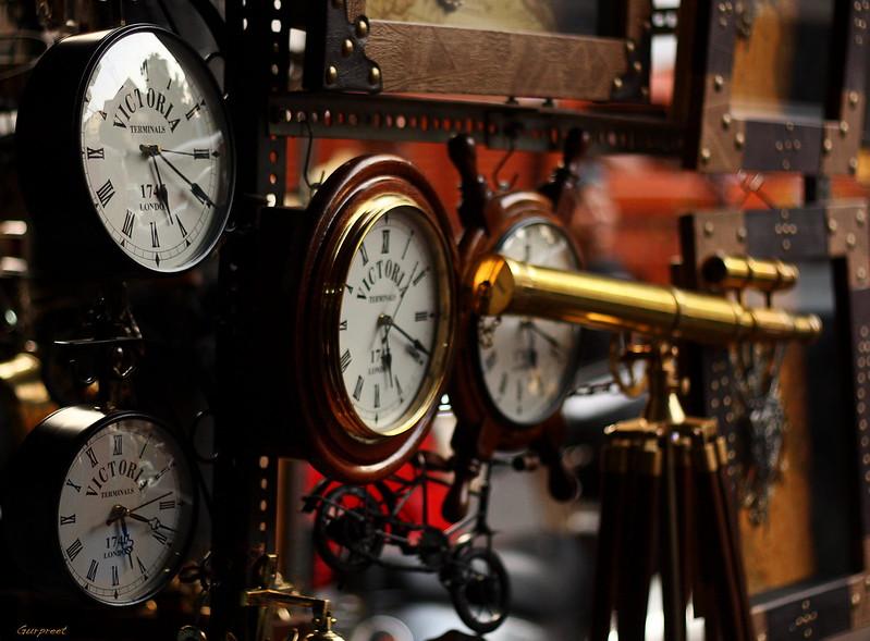 Clocks and a spyglass