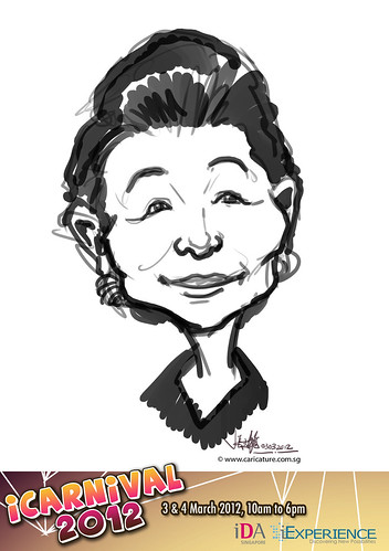 digital live caricature for iCarnival 2012  (IDA) - Day 1 - 82