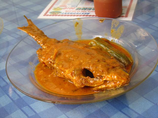 Coconut fish curry in Tanzania