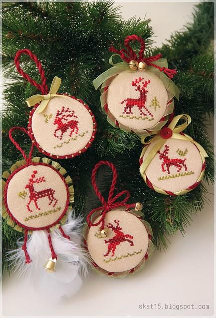 Five reindeer