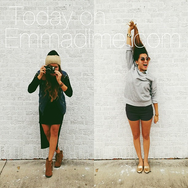 Today @iheartbueno and I are on @emmadime (www.emmadime.com) #lovelyladiesfeature #sistersister #ootd